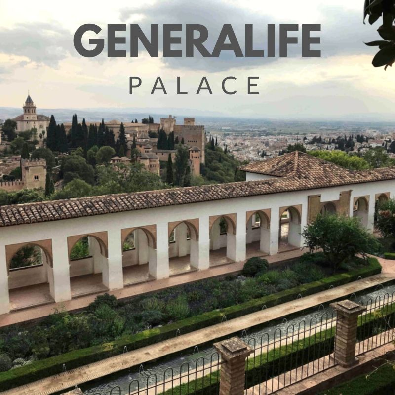 Viewpoint in the upper part of the Generalife Gardens in the Alhambra
